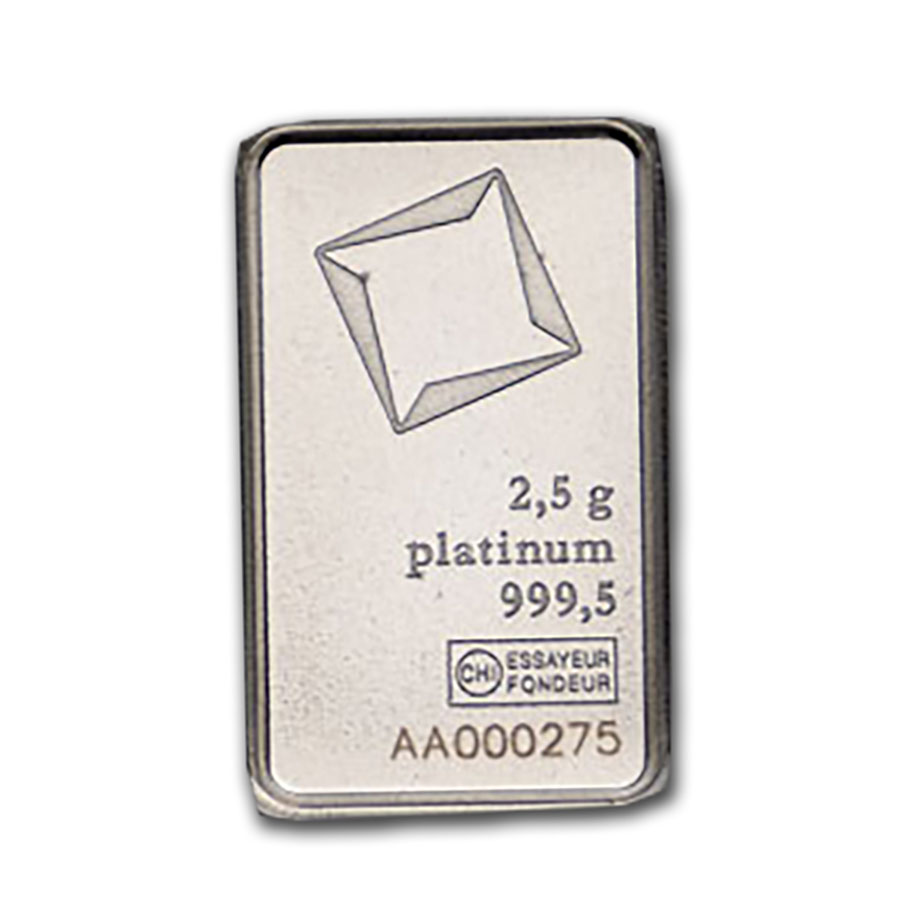 10 gram Platinum Bar - SKU#209227 Valcambi In Assay