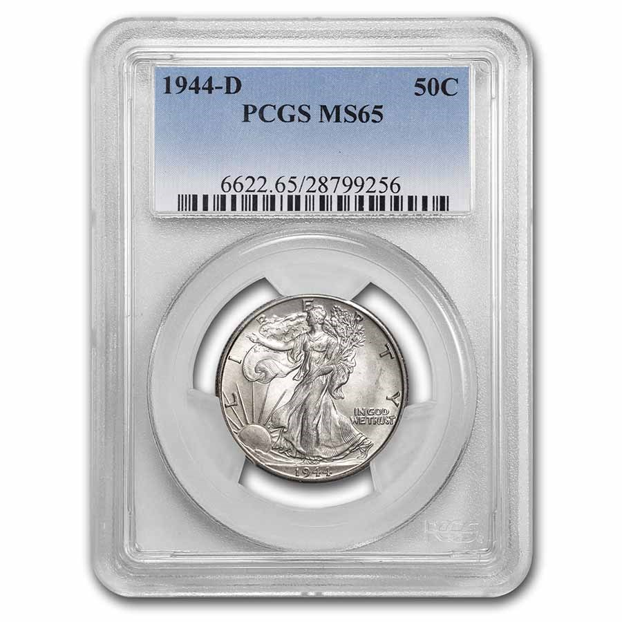 1944-D Walking Liberty Half Dollar MS-65 PCGS