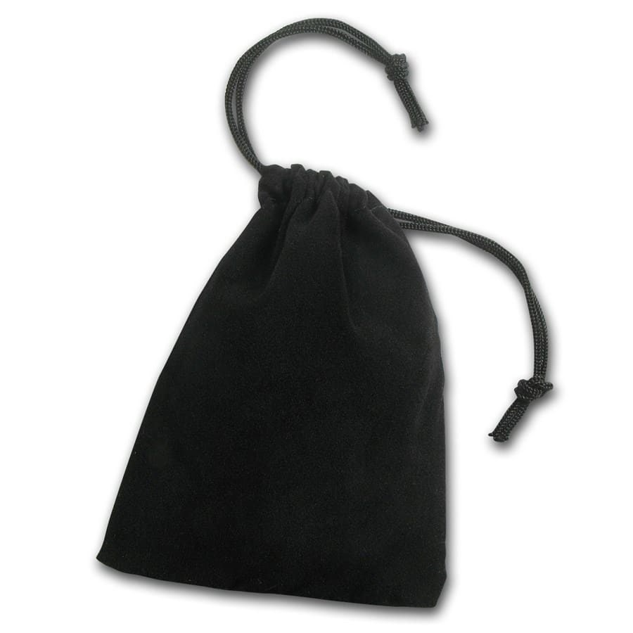 3 x 4 Velour Draw String Pouch (Black)