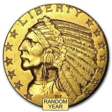 Indian Head $5 Gold Coin (1908-1929)