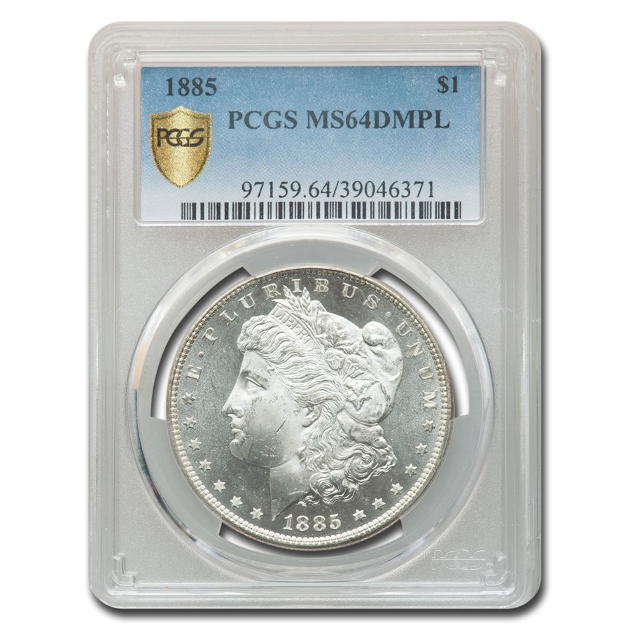 1885 Morgan Dollar MS-64 DMPL PCGS