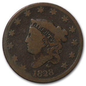 1828 Large Cent Lg Date Good