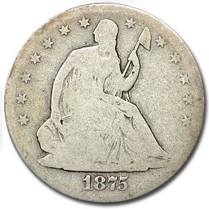 1875-S Liberty Seated Half Dollar Good