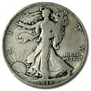 1918-D Walking Liberty Half Dollar VG