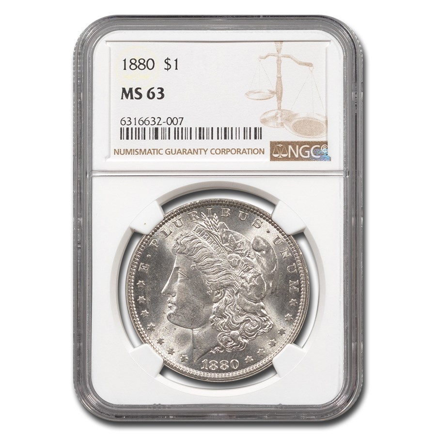 1880 Morgan Dollar MS-63 NGC