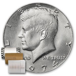 1974 Kennedy Half Dollar 20-Coin Roll BU