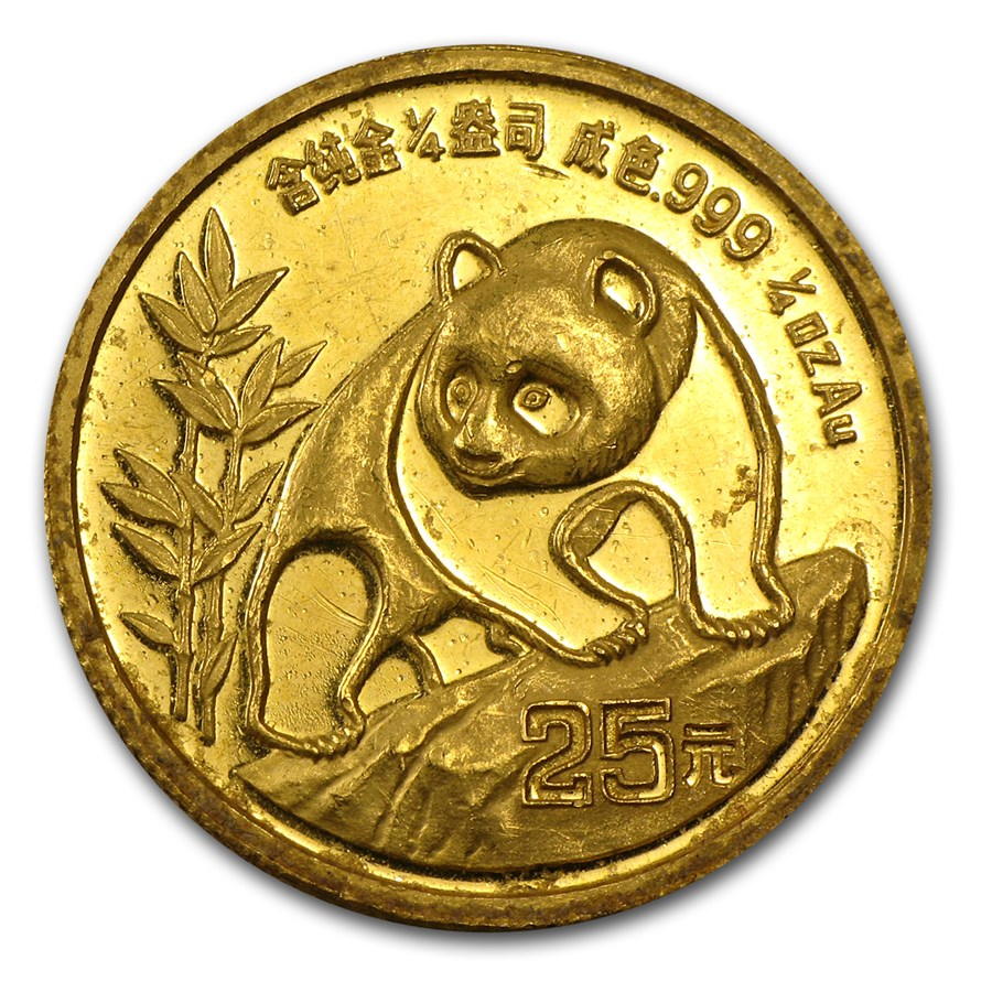 China 1/4 oz Gold Panda (Abrasions)