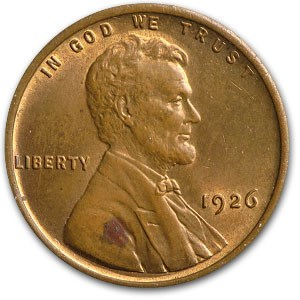 1926 Lincoln Cent BU (Red/Brown)