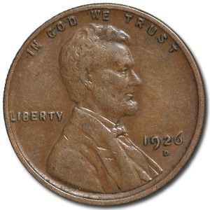 1926-D Lincoln Cent XF