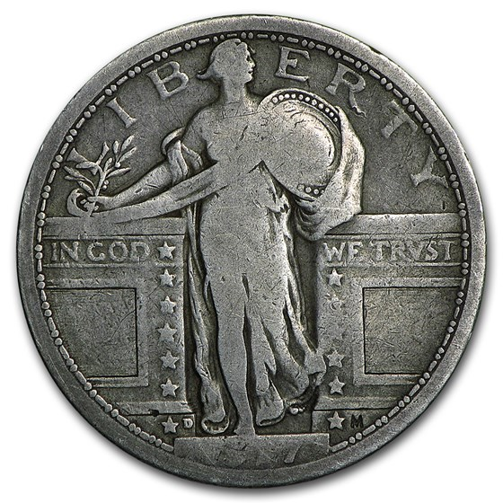 1917-D Standing Liberty Quarter Type-I Good