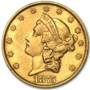 1875 $20 Liberty Gold Double Eagle AU