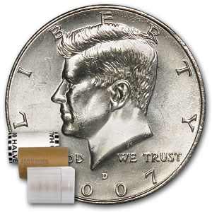 2007-D Kennedy Half Dollar 20-Coin Roll BU