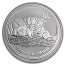 2008 Australia 1 kilo Silver Year of the Mouse BU (Series II)