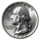 1945 Washington Quarter BU