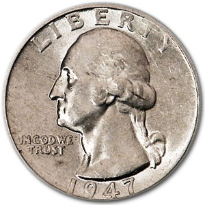 1947-D Washington Quarter AU