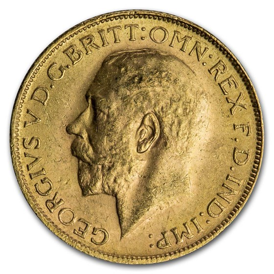 South Africa Gold Sovereign Large Bust George V (1925-1932) BU