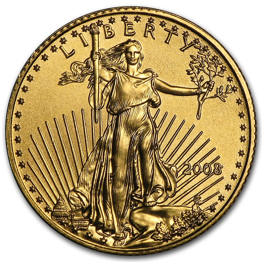 2008 1/10 oz Gold American Eagle BU