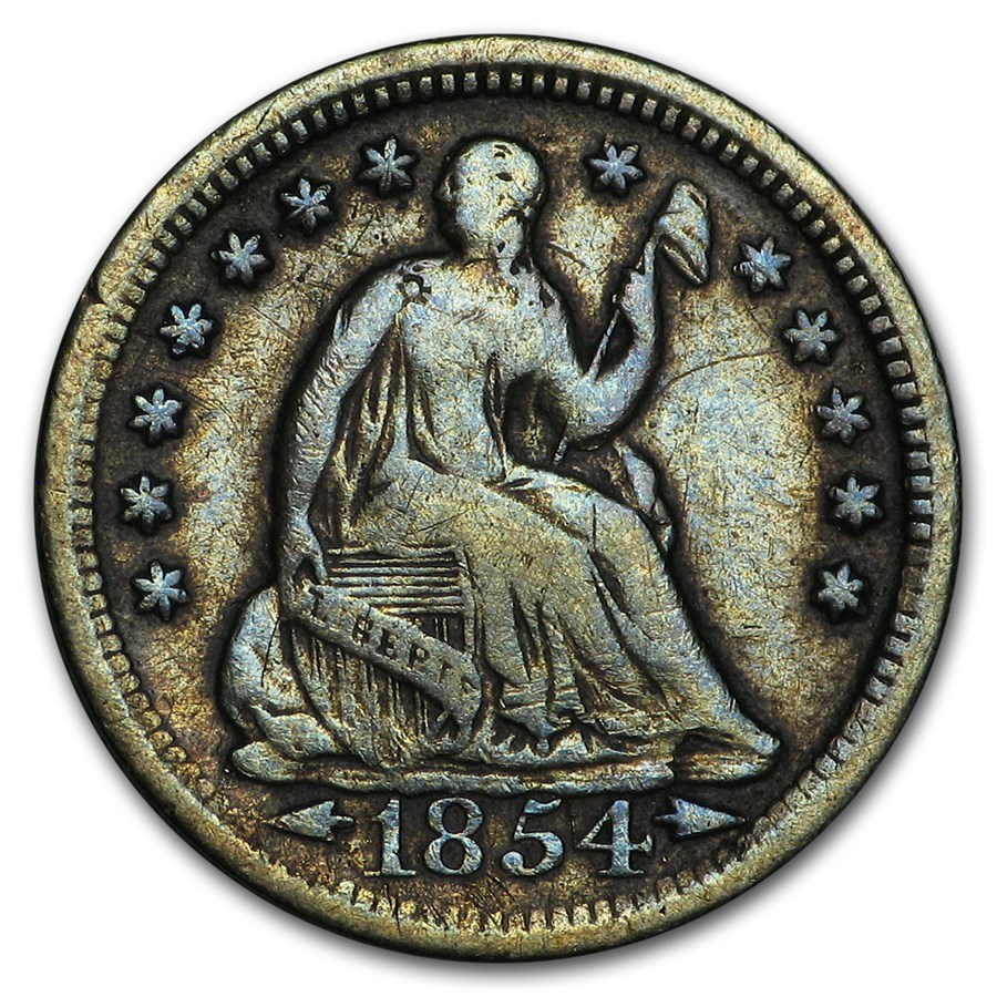 1854 Liberty Seated Half Dime VF