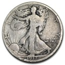 1917-D Obverse Walking Liberty Half Dollar Good