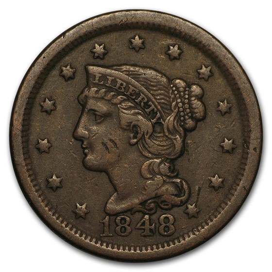1848 Large Cent VF