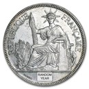 1897-1928 French Indo-China Silver Piastre Avg Circ