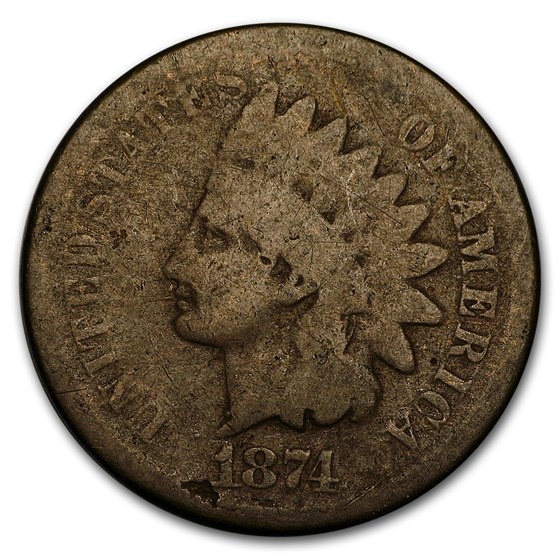 1874 Indian Head Cent Good