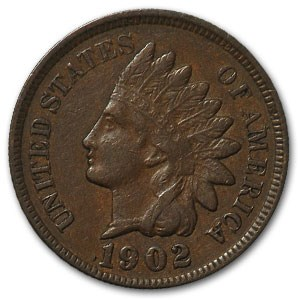 1902 Indian Head Cent XF