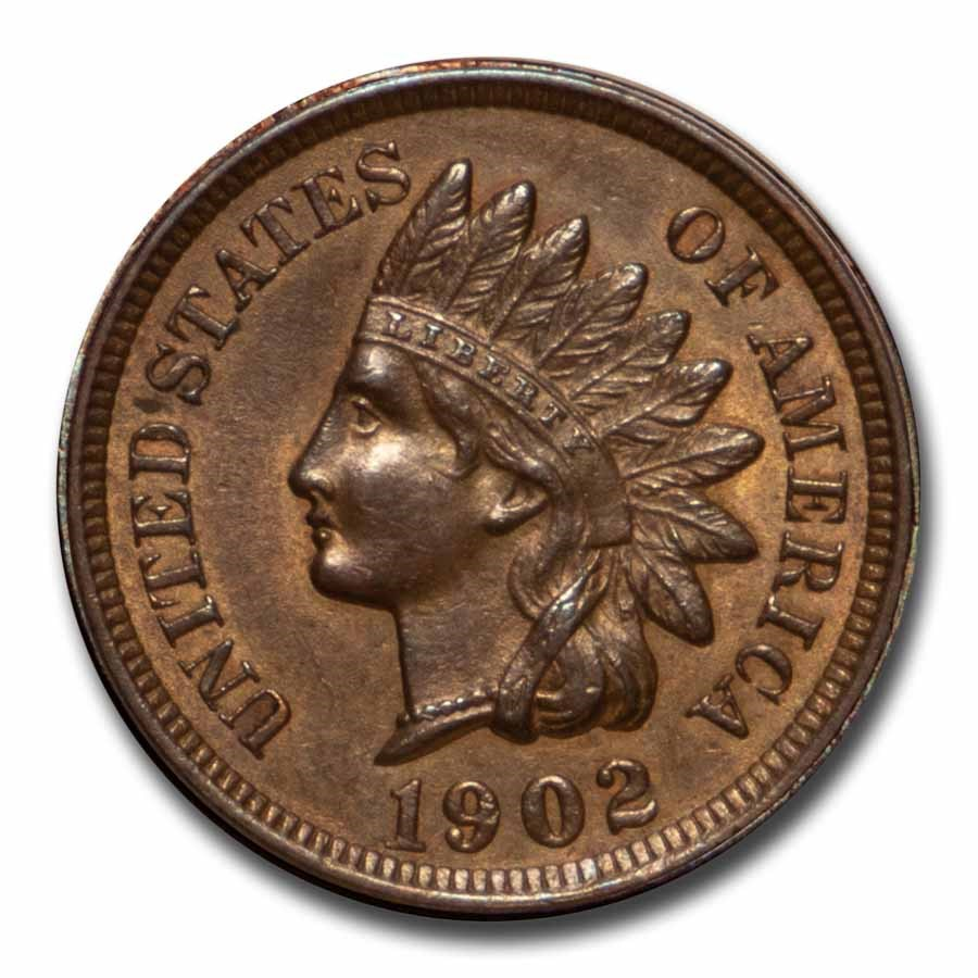 1902 Indian Head Cent BU