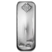 Johnson Matthey 100 Oz Silver Bars For