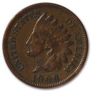1906 Indian Head Cent VF