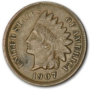 1907 Indian Head Cent XF