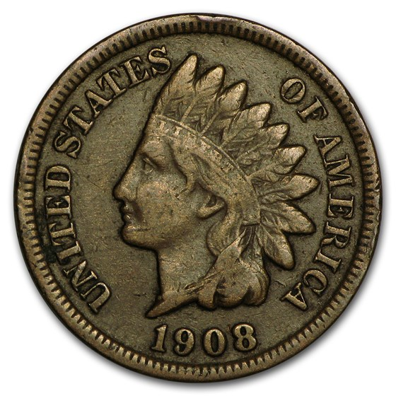 1908-S Indian Head Cent Fine