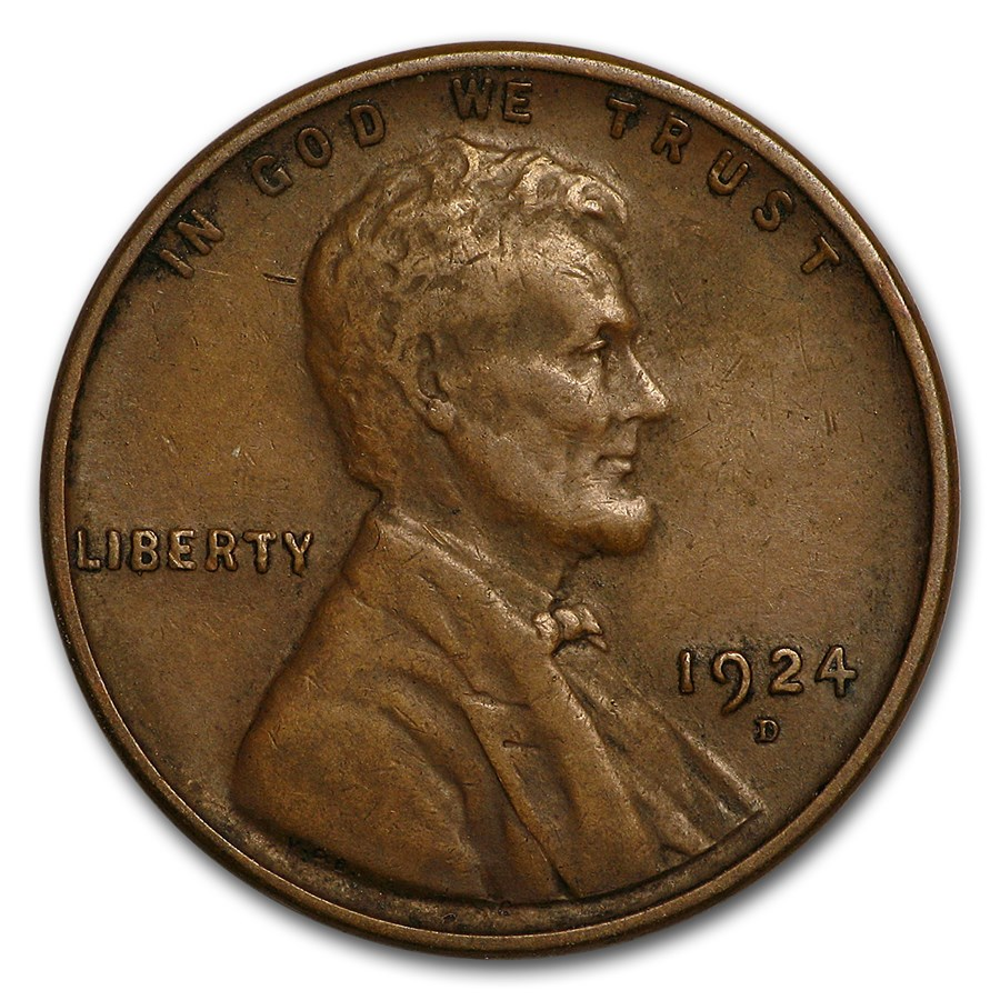 1924-D Lincoln Cent VF