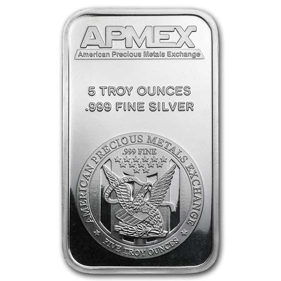 Apmex 5 Oz Silver Bars