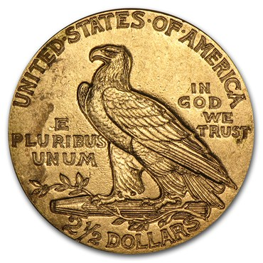 Indian $2.50 Gold Coin (1908-1929)