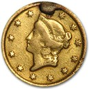 1853-O $1 Liberty Head Gold AU Details