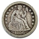 1856 Liberty Seated Dime Large Date VF