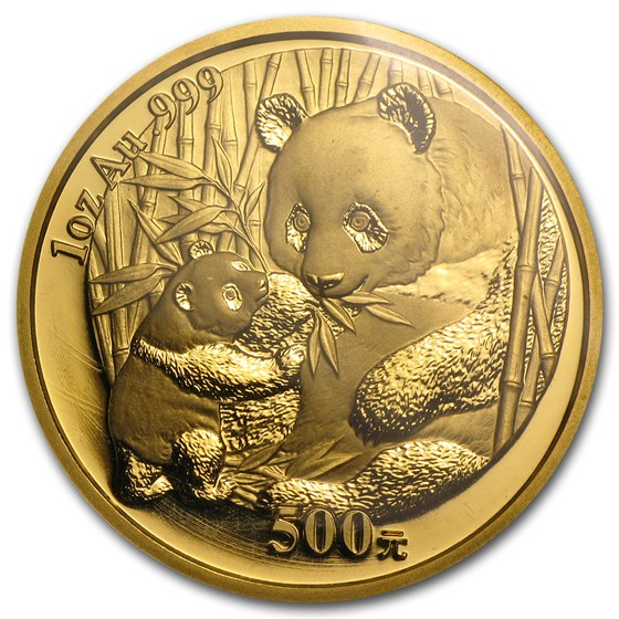 2005 China 1 oz Gold Panda BU (Sealed)