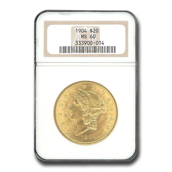 1904 $20 Liberty Gold Double Eagle MS-60 NGC