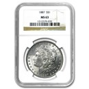 1887 Morgan Dollar MS-63 NGC