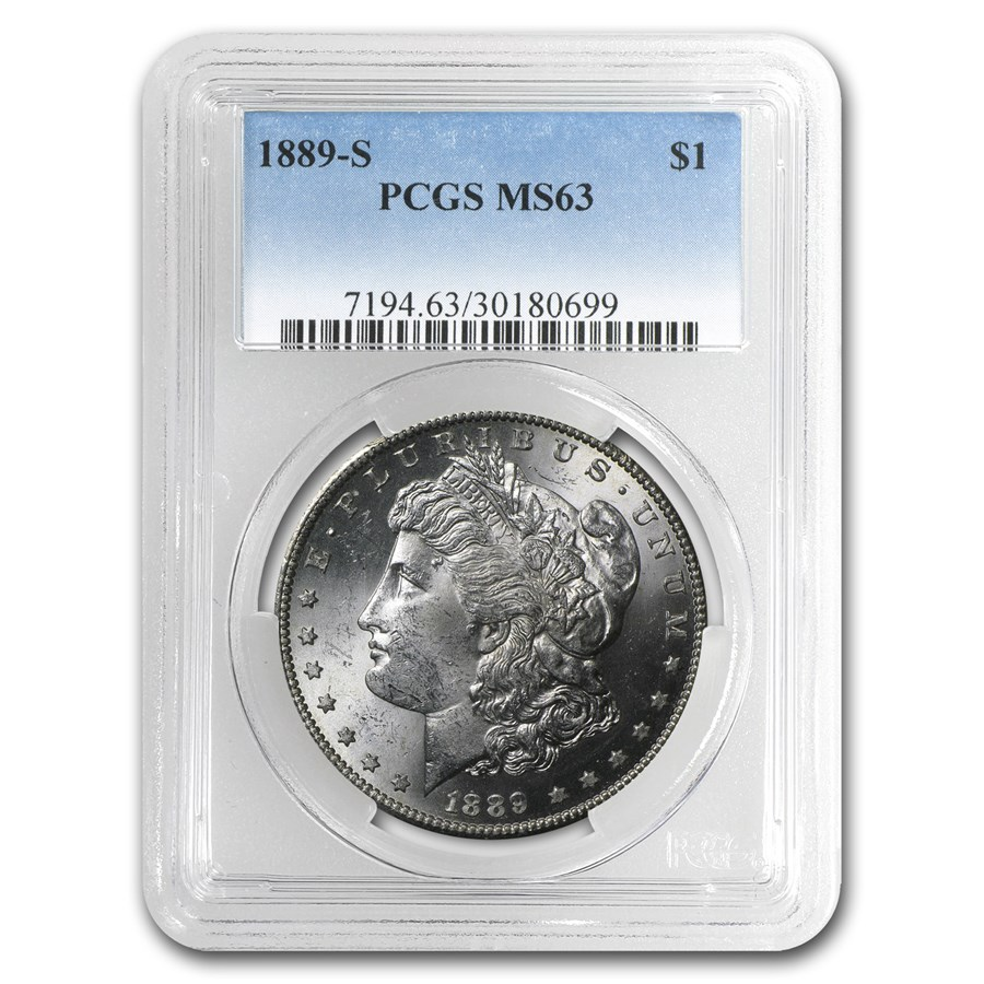 1889-S Morgan Dollar MS-63 PCGS