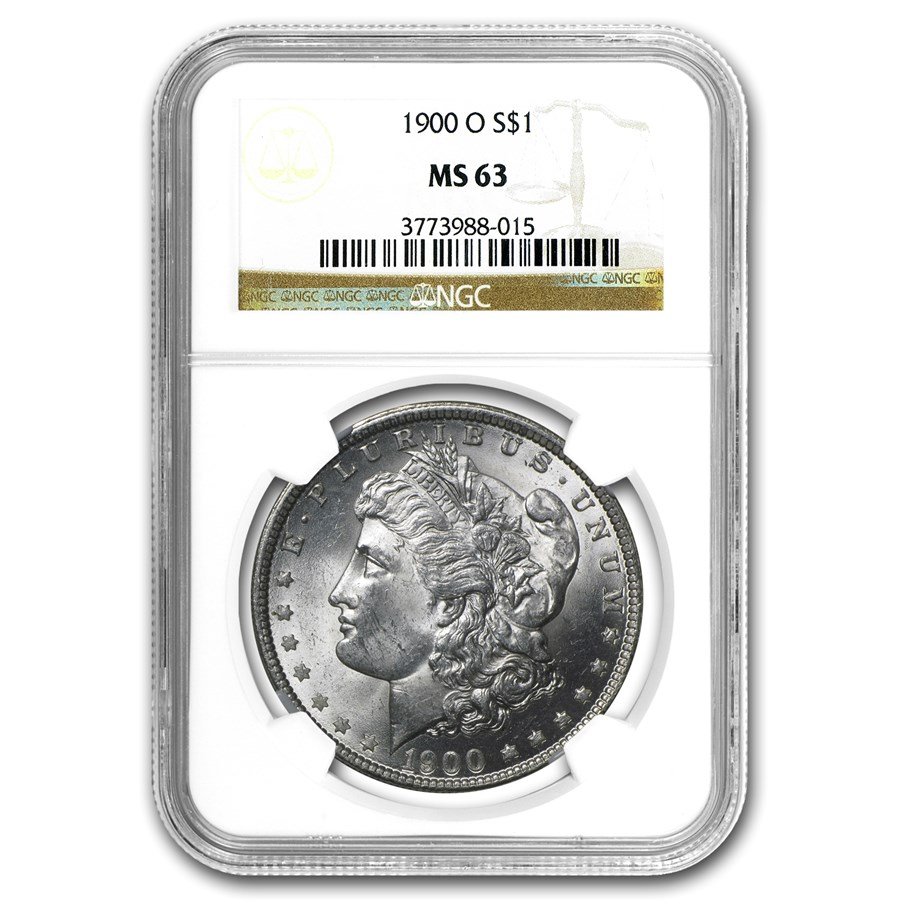 1900-O Morgan Dollar MS-63 NGC