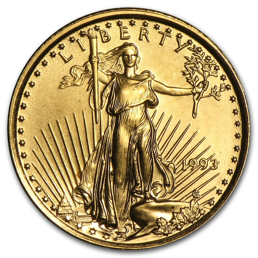 1993 1/10 oz Gold American Eagle BU