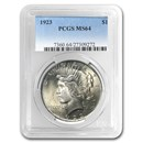 1923 Peace Dollar MS-64 PCGS