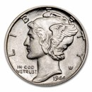 1916-1945 90% Silver Mercury Dimes BU (Mixed Dates)