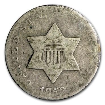 Three Cent Silver (1851-1873) obverse