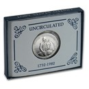 1982-D George Washington 1/2 Dollar Silver Commem BU (Box & COA)