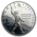 2006-P Ben Franklin Scientist $1 Silver Commem Prf (Capsule only)