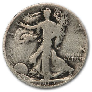 1919-D Walking Liberty Half Dollar Good
