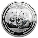 2009 China 1 oz Silver Panda BU (30th Anniversary, In Capsule)